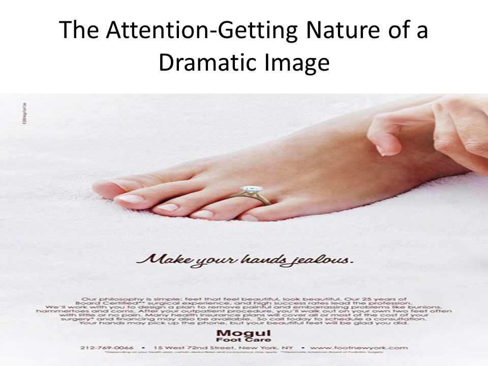 The Attention-Getting Nature of a Dramatic Image