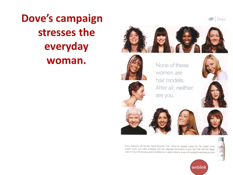 Dove's campaign stresses the everyday woman.