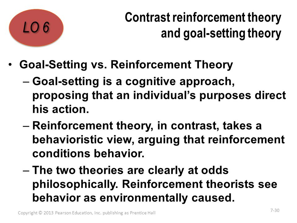 organisational behaviour goal setting theory Goal-setting theory is one of the most influential and practical theories of  motivation in fact, in a survey of organizational behavior scholars, it has been  rated as.