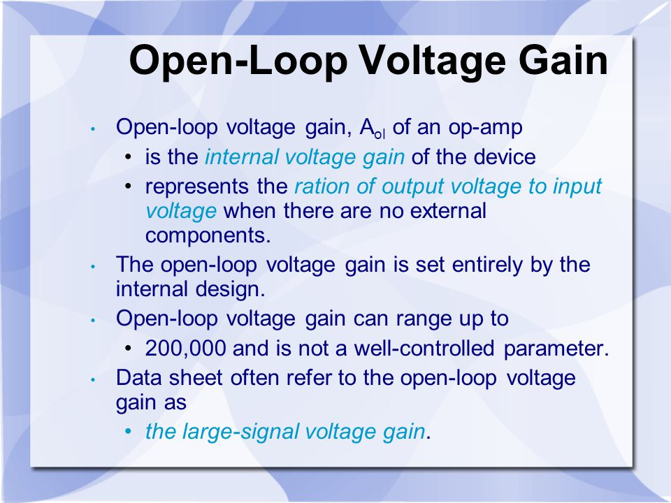 Open-Loop Voltage Gain
