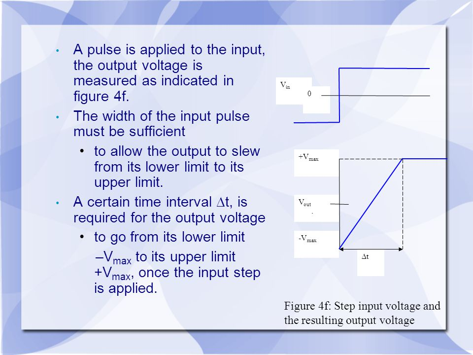 The width of the input pulse must be sufficient