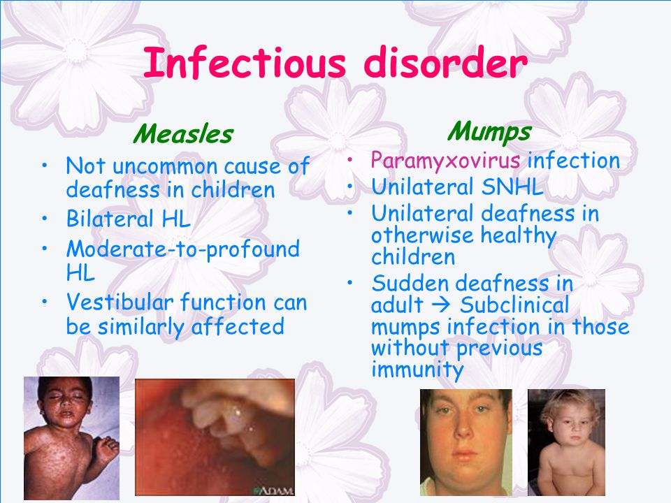 Infectious disorder Measles Mumps