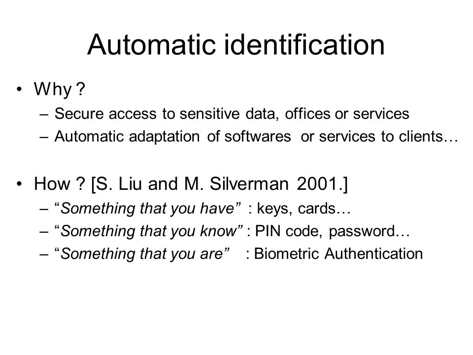 Automatic identification