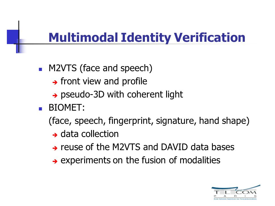 Multimodal Identity Verification
