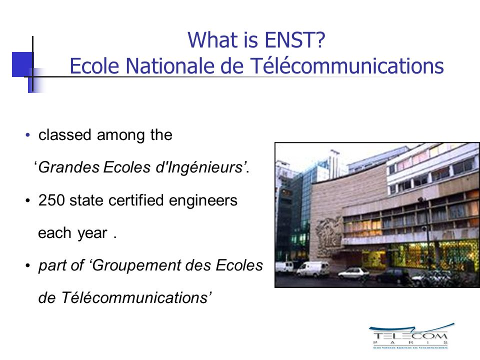What is ENST Ecole Nationale de Télécommunications