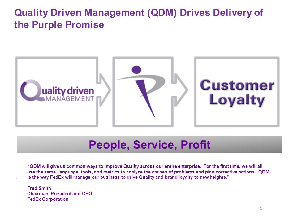 fedex managing quality day and night Assignment help marketing management read fedex: managing quality day and night, on pages 22 and 23 of your textbook (attached), and watch this video.
