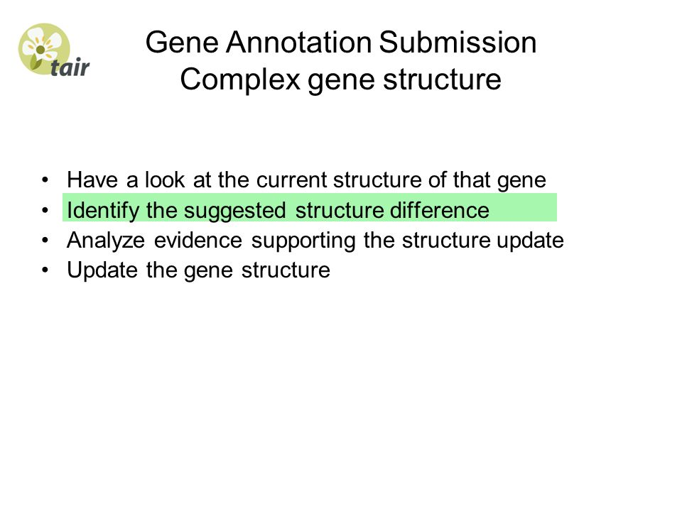 Gene Annotation Submission Complex gene structure