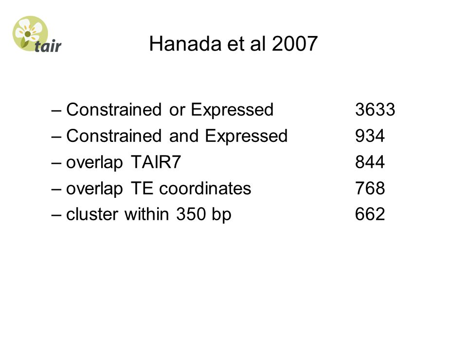 Hanada et al 2007 Constrained or Expressed 3633