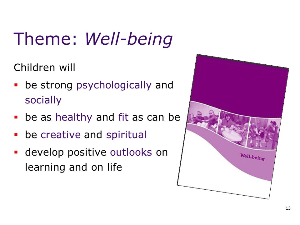 Theme: Well-being Children will be strong psychologically and socially