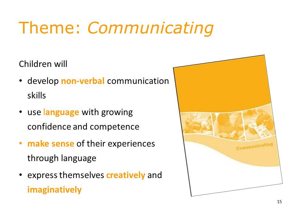 Theme: Communicating Children will