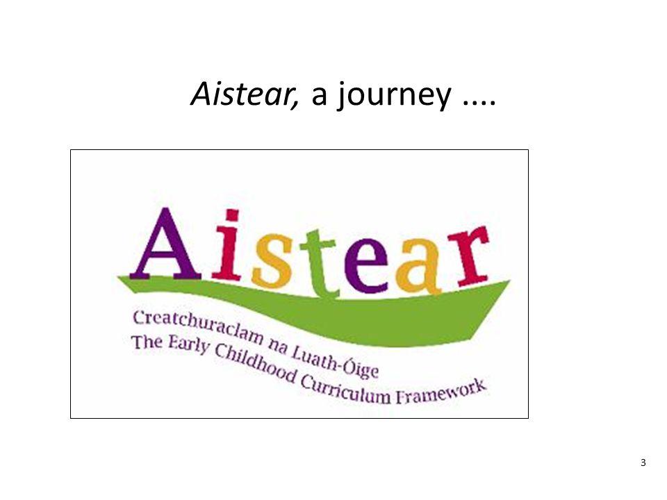 Aistear, a journey .... Notes 3 The word Aistear means 'journey'.