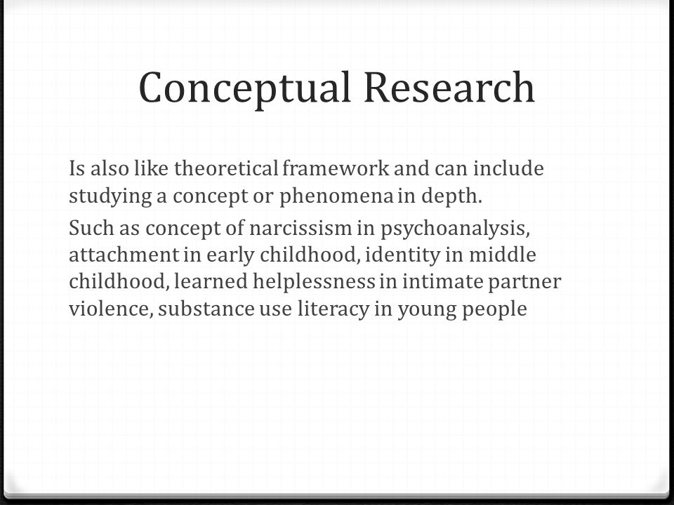 Theoretical framework paper example