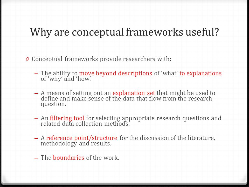 make conceptual framework research paper I introduction and theoretical framework information for the research reported in the paper including a discussion of the conceptual or theoretical.