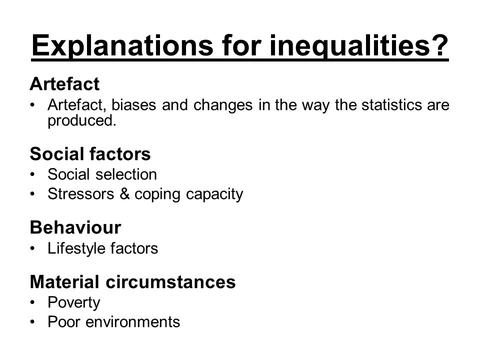 explanations for inequality Health inequalities lecture we use your linkedin profile and activity data to personalize ads and to show you more relevant ads.