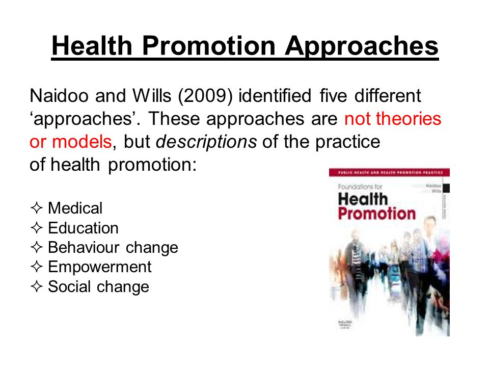The different approaches to health education