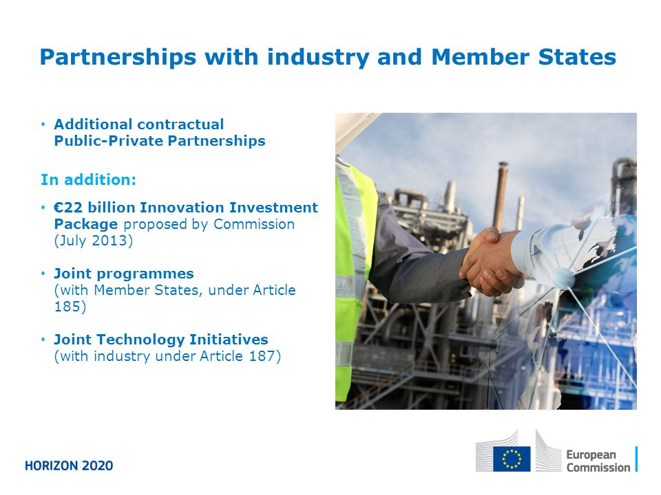Partnerships with industry and Member States