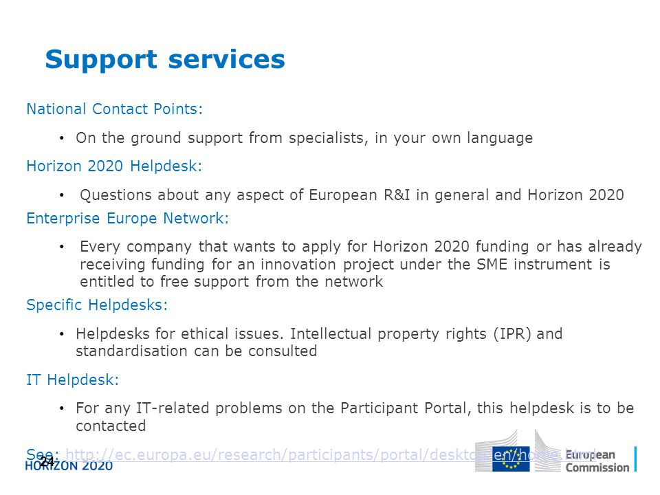 Support services National Contact Points: