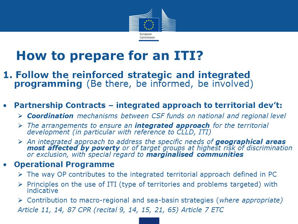 How to prepare for an ITI
