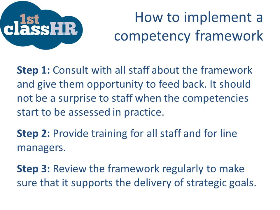 How to implement a competency framework