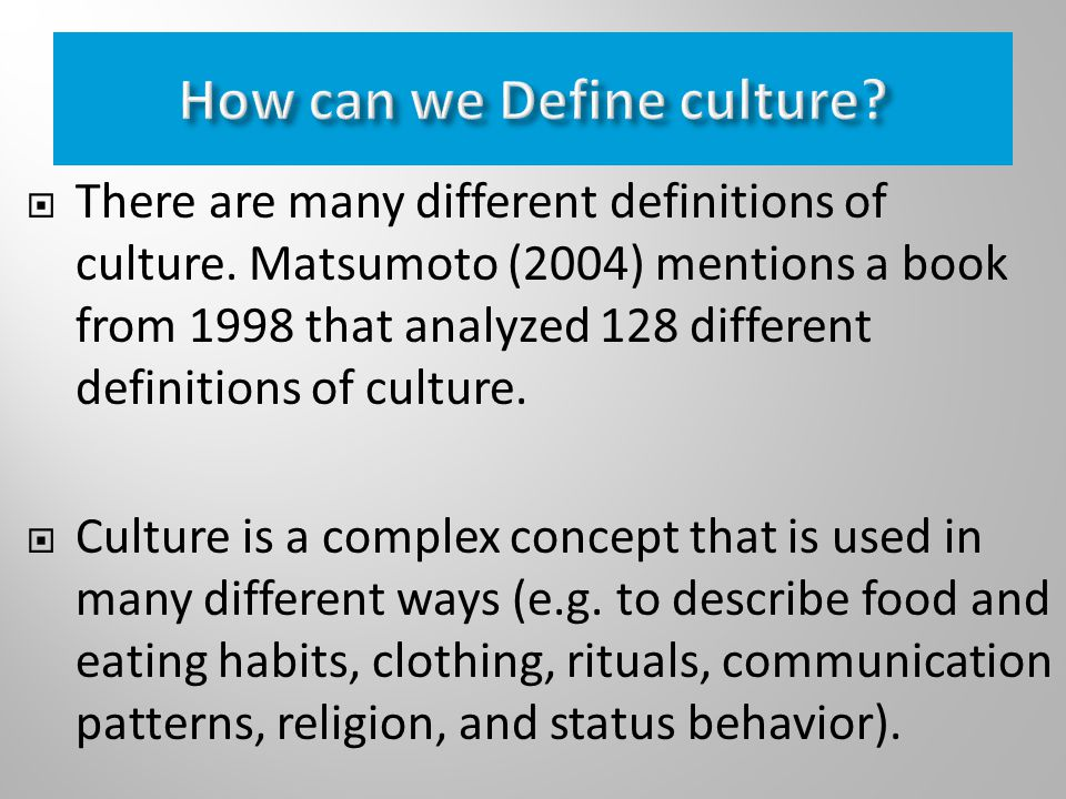 Culture definition