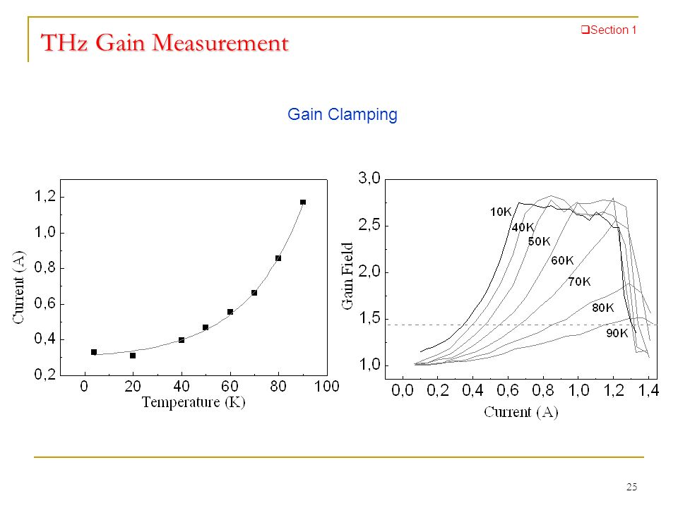 THz Gain Measurement Gain Clamping Section 1