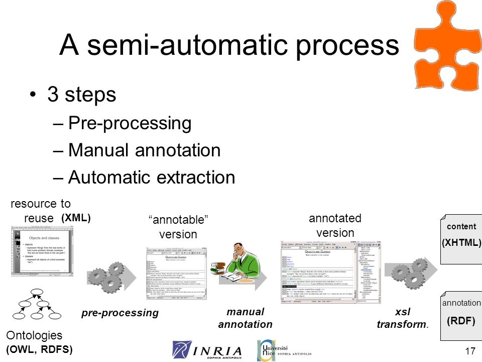 A semi-automatic process