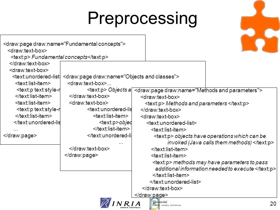Preprocessing <draw:page draw:name= Fundamental concepts >