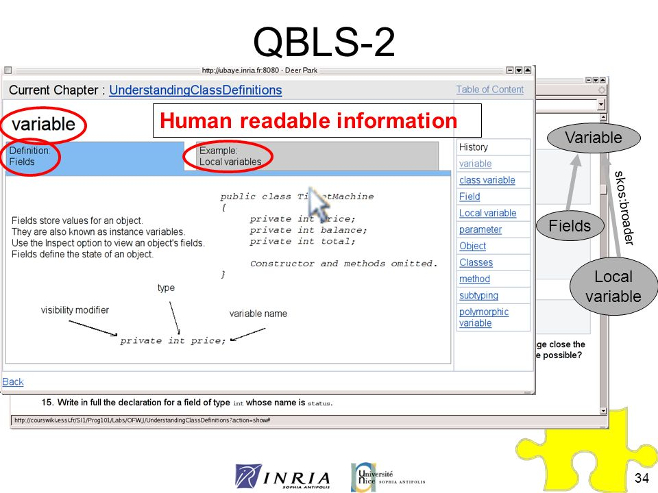 QBLS-2 Human readable information Variable Fields Local variable