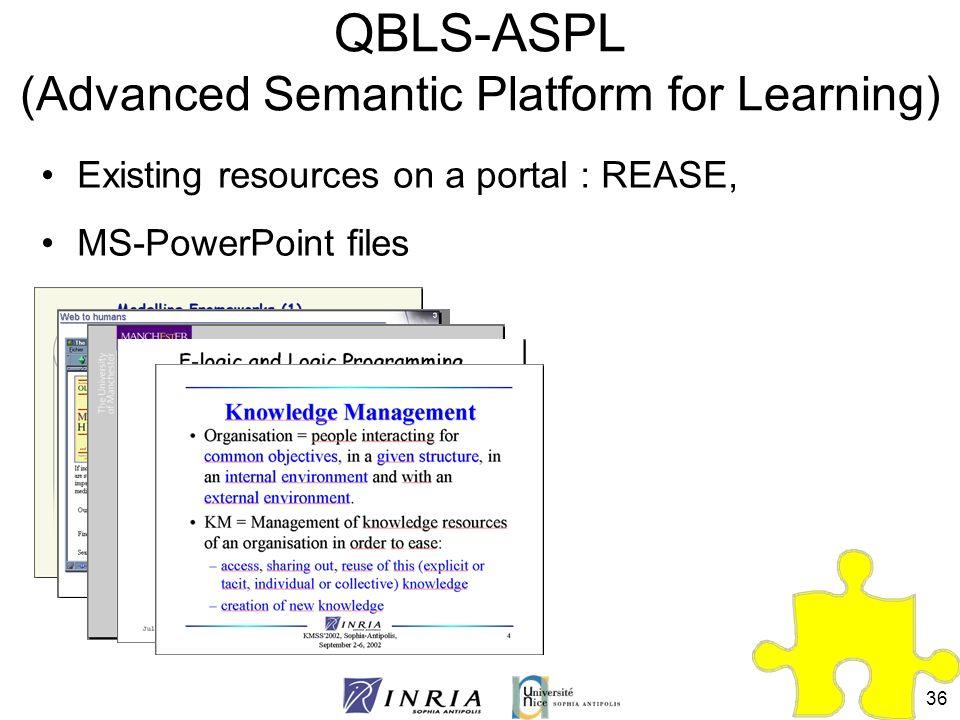 QBLS-ASPL (Advanced Semantic Platform for Learning)