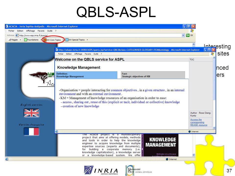 QBLS-ASPL Interesting Web sites for advanced learners