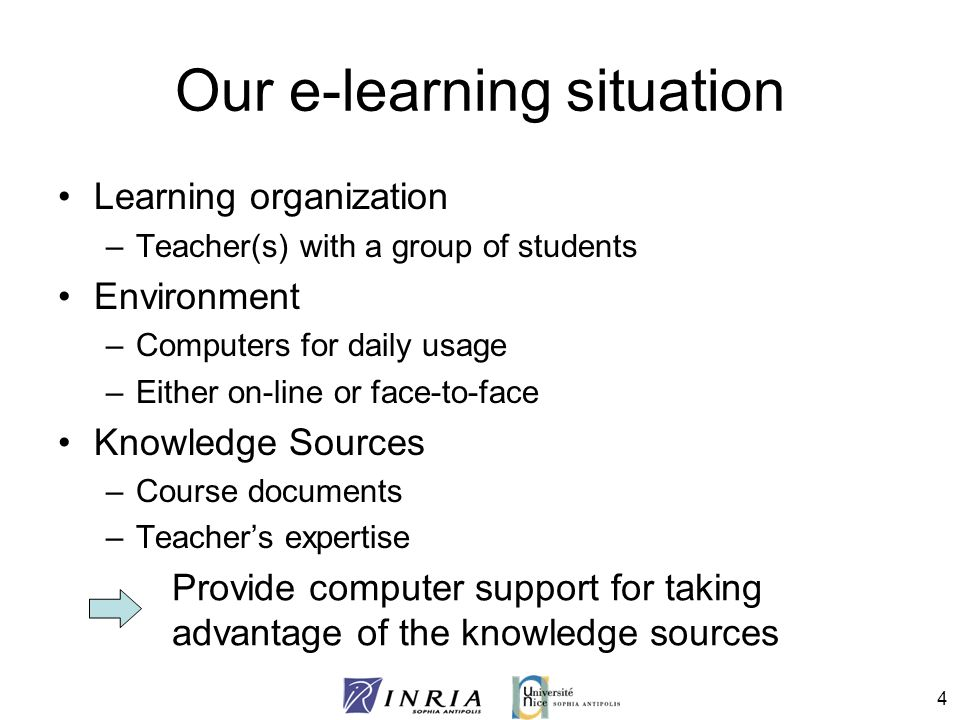 Our e-learning situation