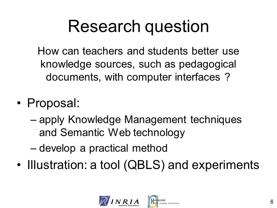 Research question Proposal: