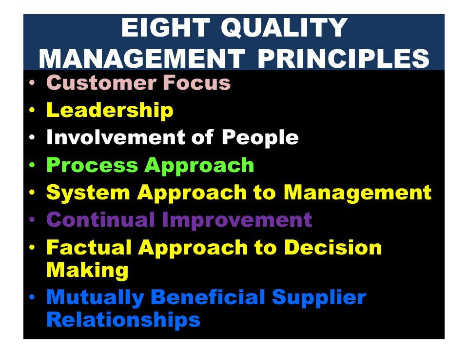 8 Quality Manangement Principles
