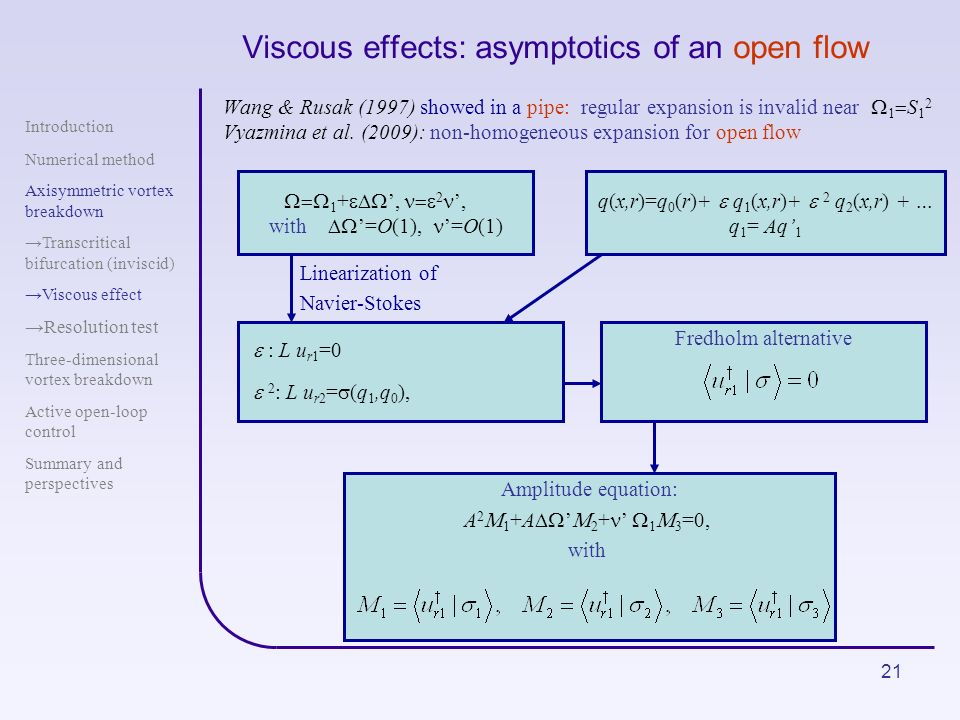 Viscous effects: asymptotics of an open flow