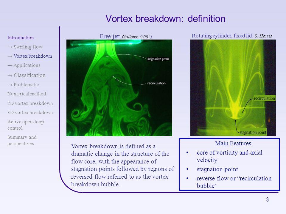 Vortex breakdown: definition