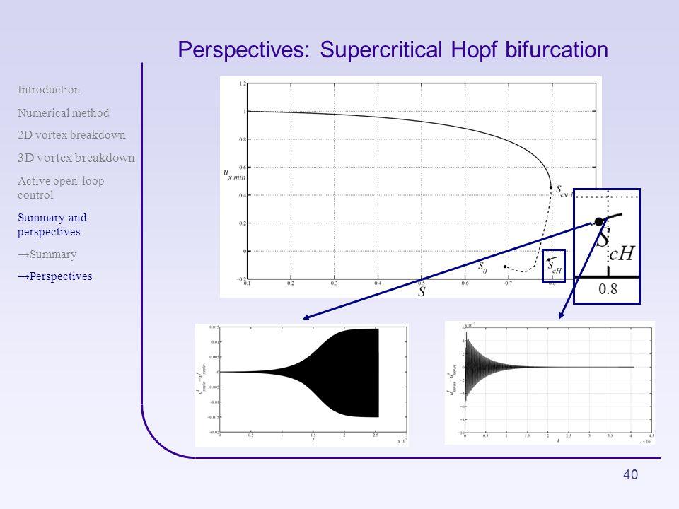 Perspectives: Supercritical Hopf bifurcation