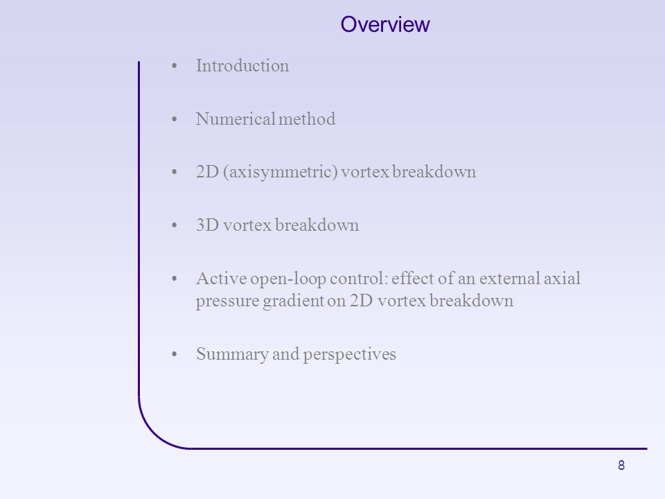 Overview Introduction Numerical method