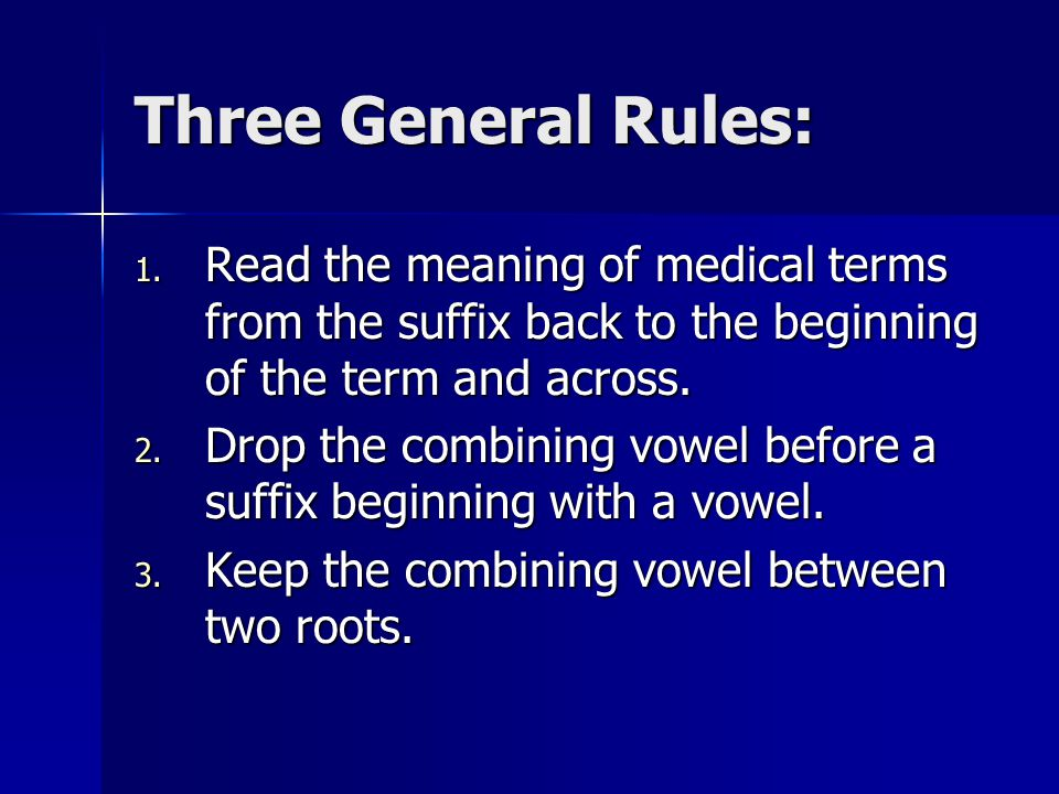Chapter 1 basic word structure ppt video online download for Rule of three meaning
