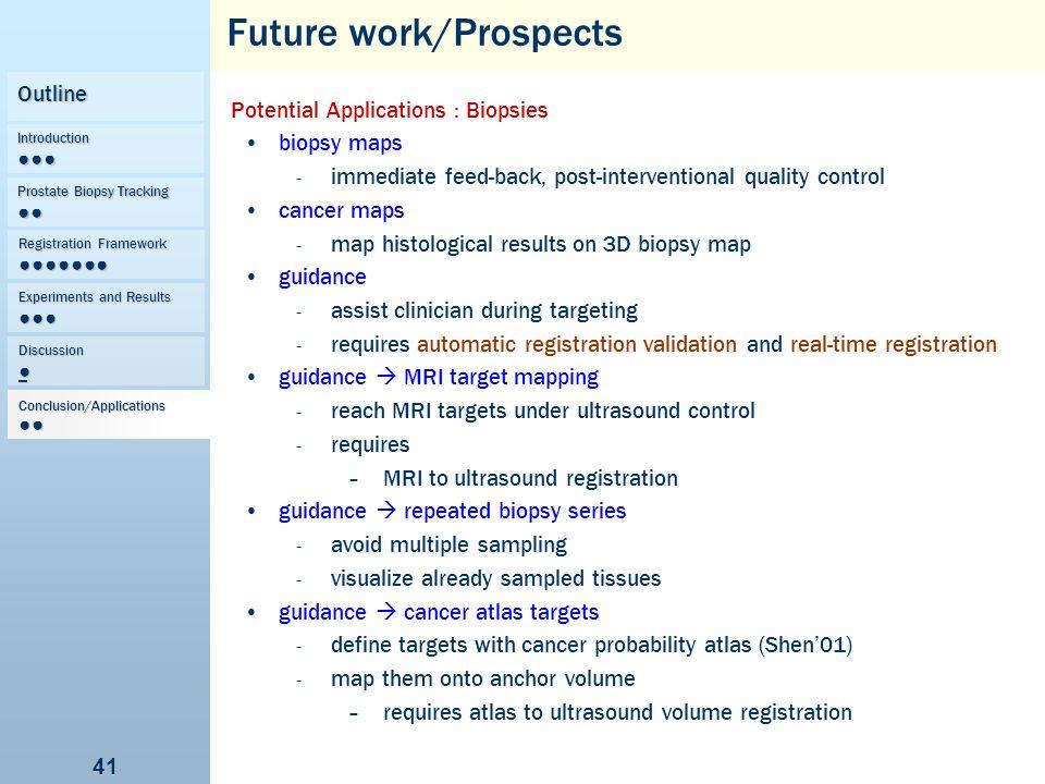 Future work/Prospects
