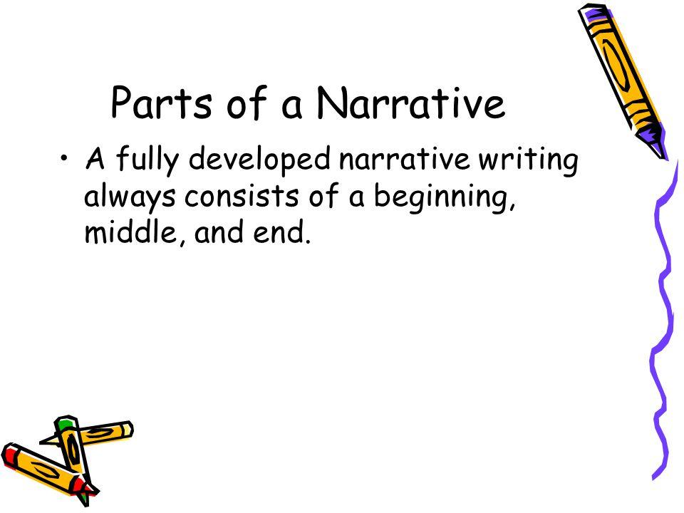 parts of an narrative essay