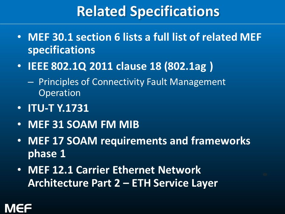 Related Specifications