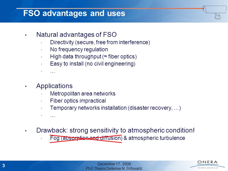 FSO advantages and uses