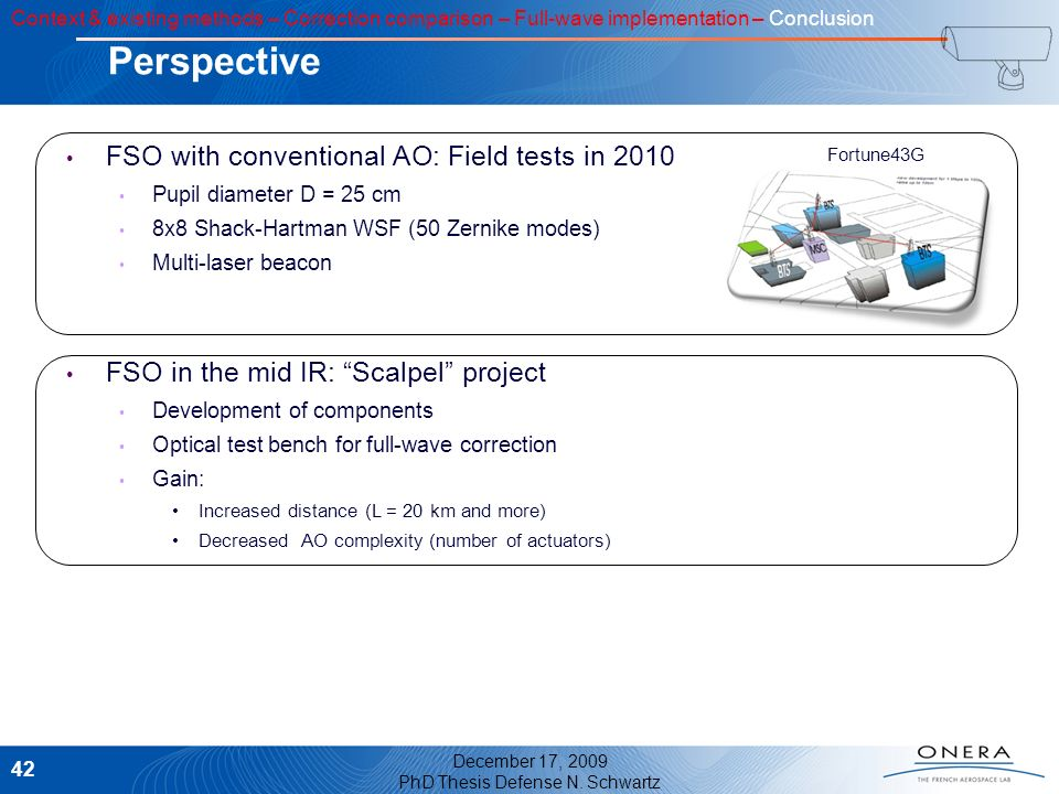 Perspective FSO with conventional AO: Field tests in 2010