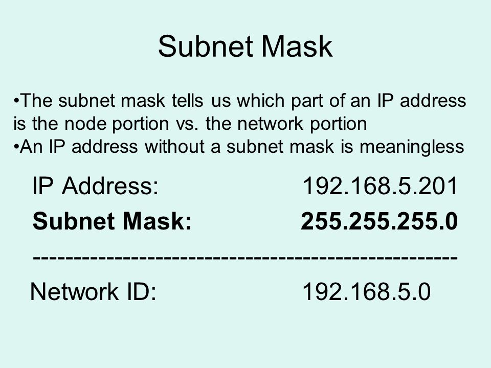 how to create subnet mask for an ip address