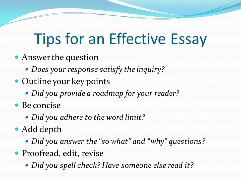 writing an effective essay the bsba application ppt video online  tips for an effective essay
