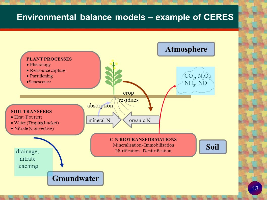 Environmental balance models – example of CERES