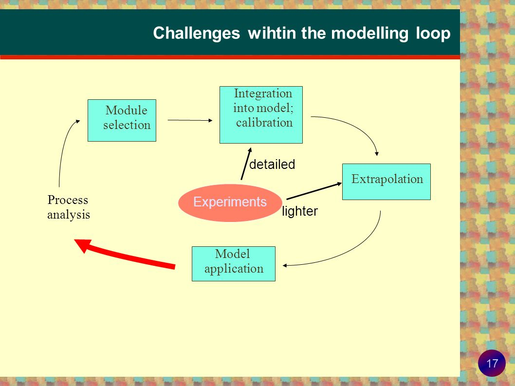 Challenges wihtin the modelling loop