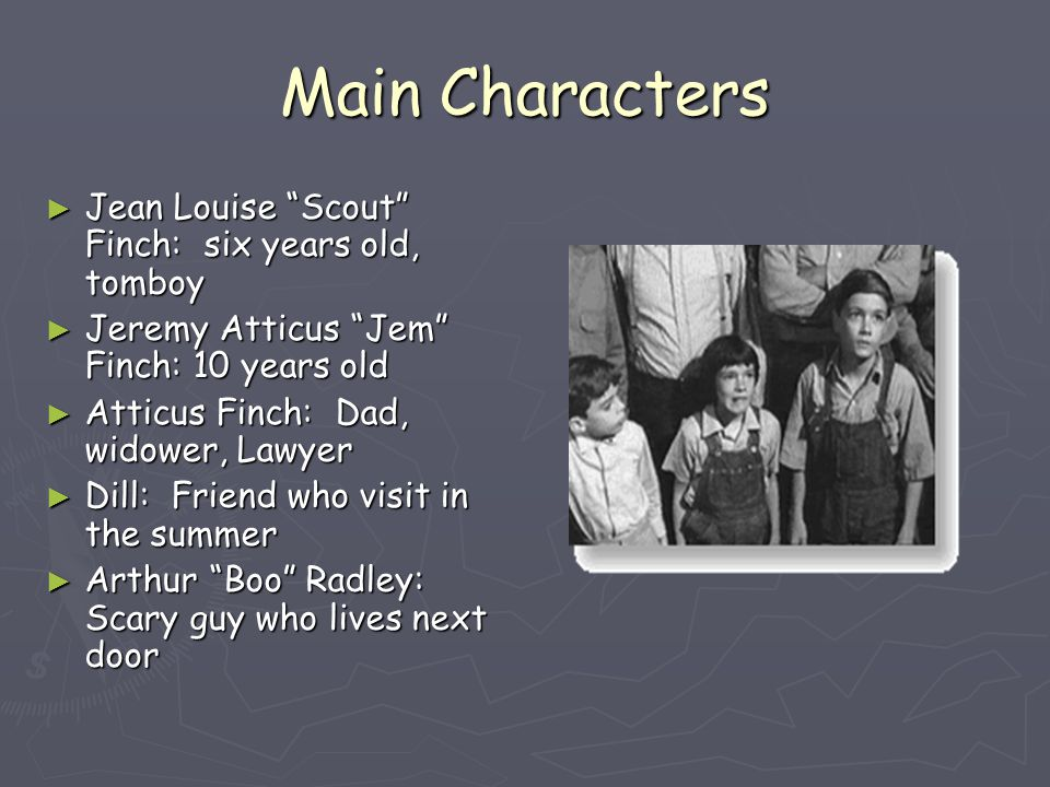 jean louise scout finch character journal It is implied during the story that boo is a very lonely man who attempts to reach  out to jem and scout for love.