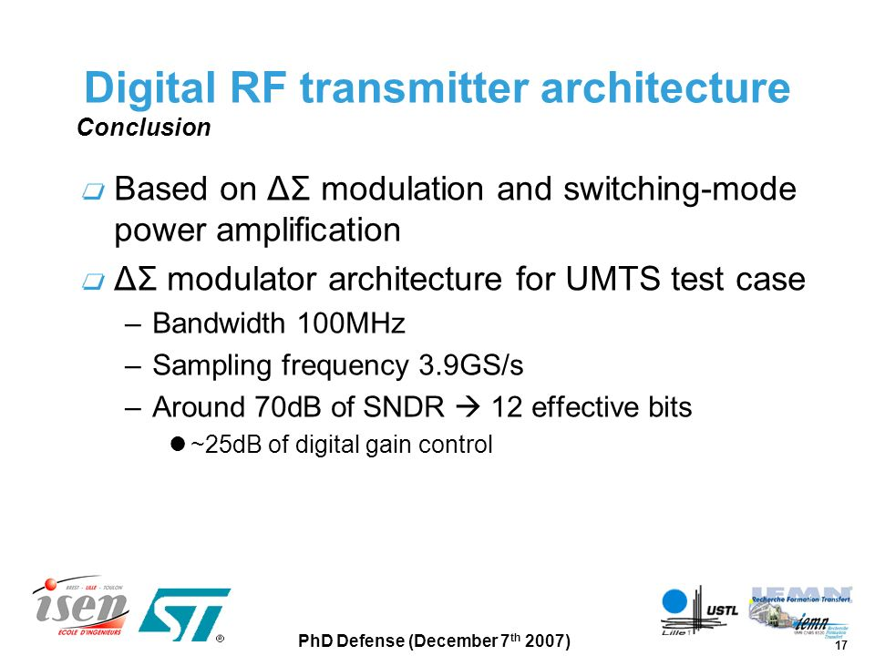 Digital RF transmitter architecture