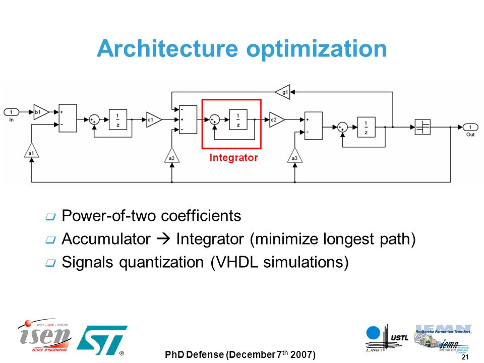 Architecture optimization